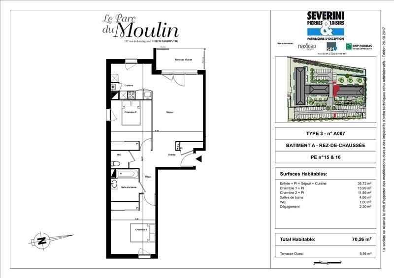 Vente appartement Parempuyre 265000€ - Photo 3