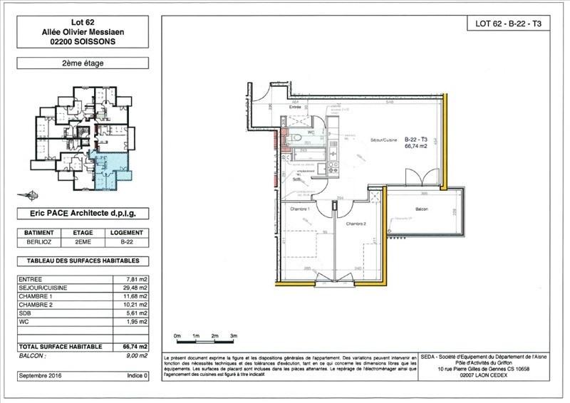 Produit d'investissement appartement Soissons 142000€ - Photo 1
