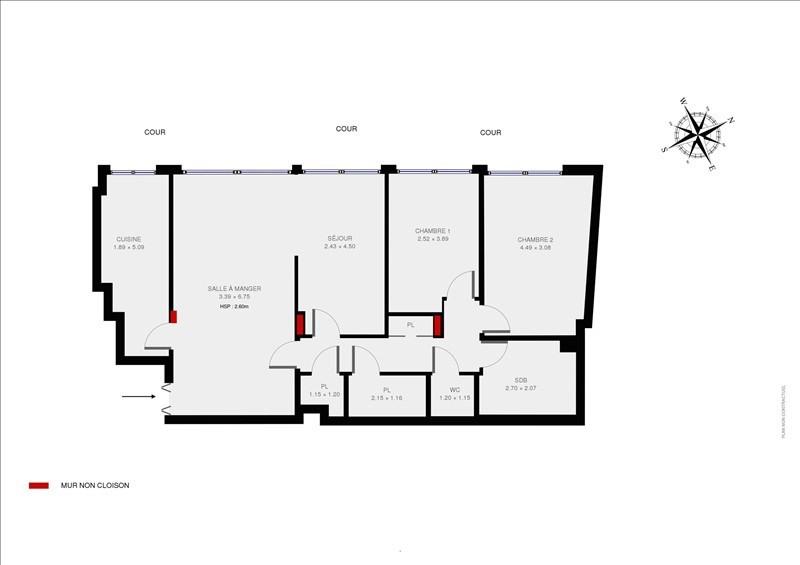 Vente appartement Paris 15ème 780000€ - Photo 10