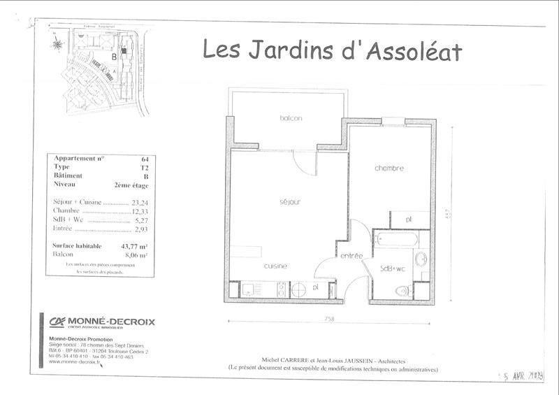 Alquiler  apartamento Castanet tolosan 567€ CC - Fotografía 1