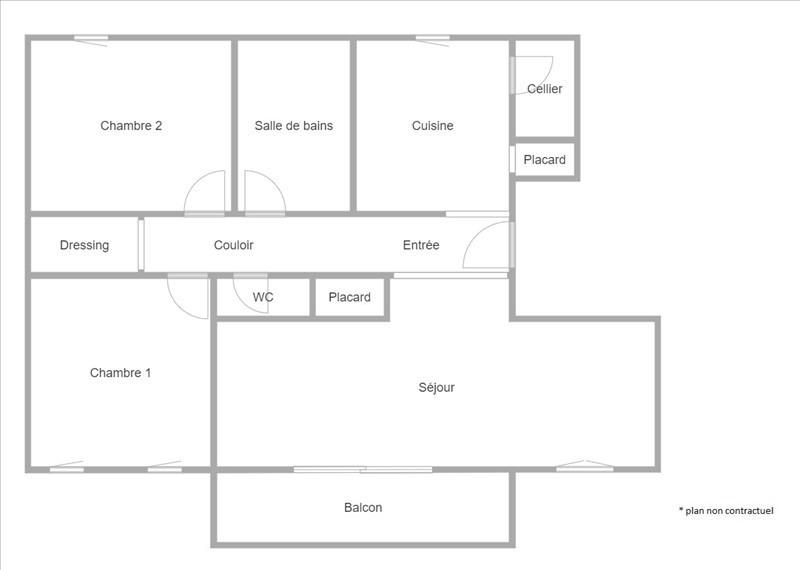 Sale apartment Puteaux 430000€ - Picture 1