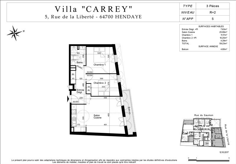 Venta de prestigio  apartamento Hendaye 209000€ - Fotografía 4
