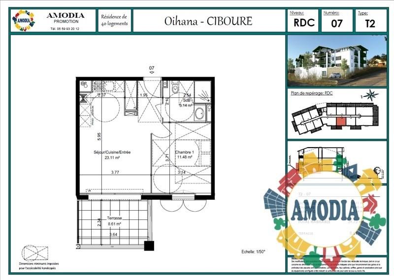 Vente appartement Ciboure 159000€ - Photo 2