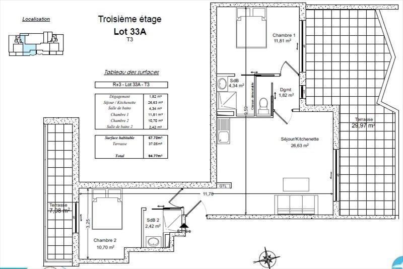 Vente de prestige appartement Bormes les mimosas 419000€ - Photo 2