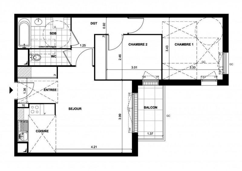 Vente appartement Bois-d'arcy 254000€ - Photo 1