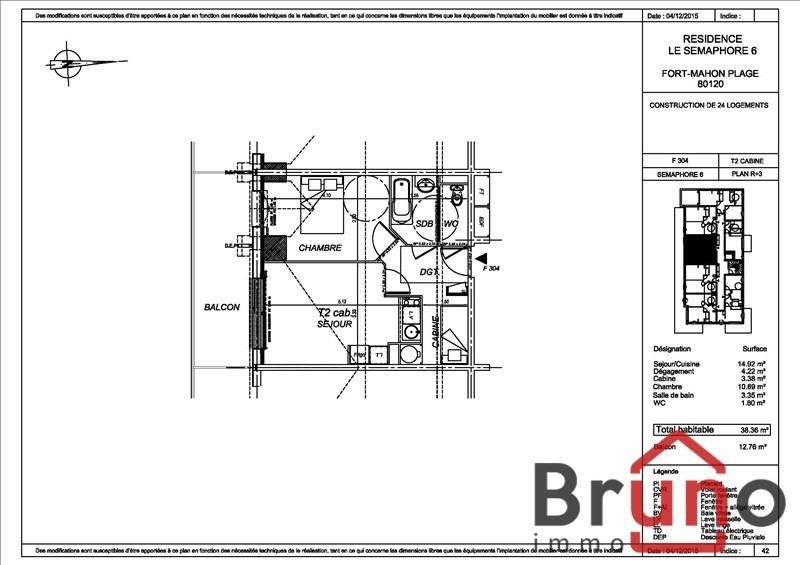 Verkauf wohnung Fort mahon plage 170000€ - Fotografie 1