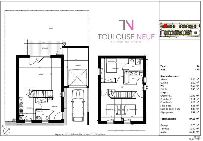 Vente maison / villa Cugnaux 295000€ - Photo 9