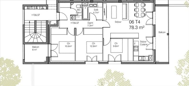 Venta de prestigio  apartamento Caluire et cuire 440000€ - Fotografía 2