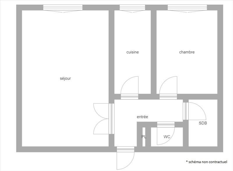 Sale apartment Puteaux 370000€ - Picture 1