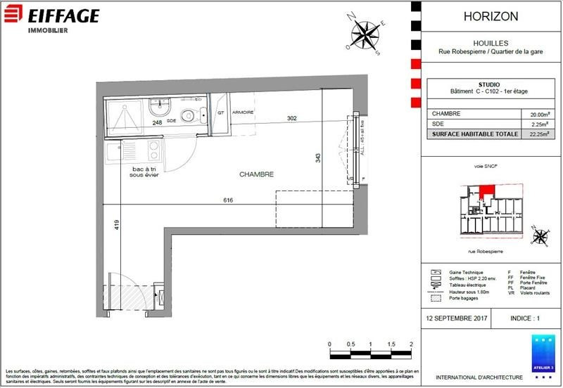 Investment property apartment Houilles 156103€ - Picture 2
