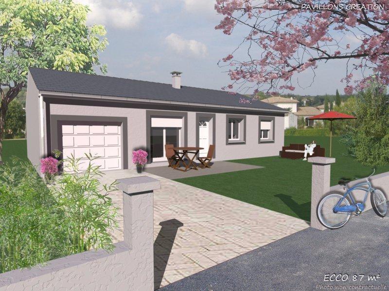 Maison  4 pièces + Terrain 816 m² Preaux par SOCIETE PAVILLONS CREATION