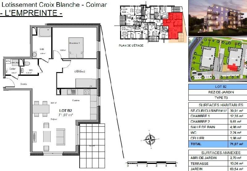 Sale apartment Colmar 154733€ - Picture 2