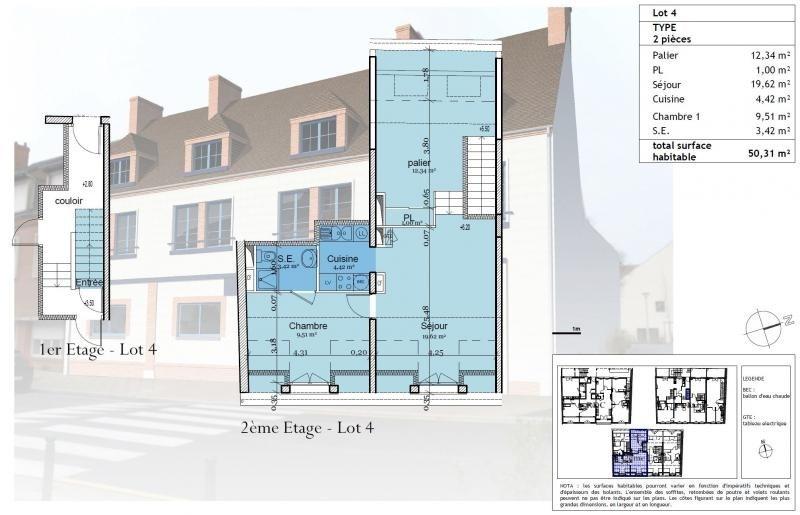 Verkoop  appartement St denis de l hotel 61500€ - Foto 1