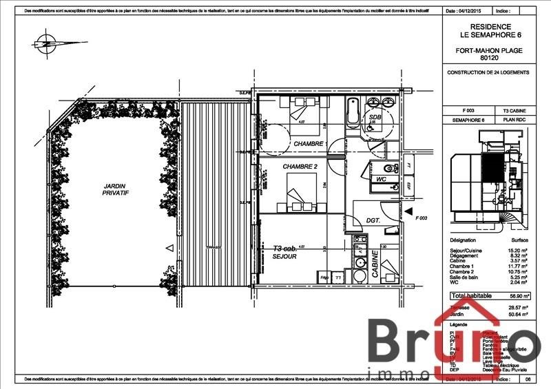 Verkauf wohnung Fort mahon plage 235000€ - Fotografie 1