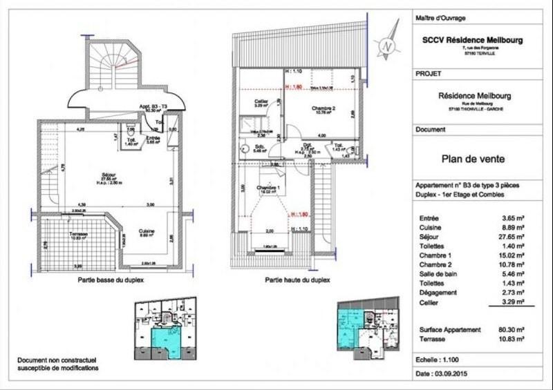 Vente appartement Thionville 219000€ - Photo 3