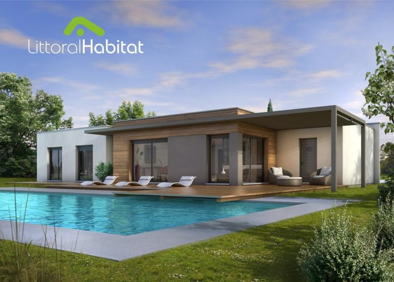 """Modèle de maison  """"Maison moderne et accessible"""" à partir de 5 pièces Landes par LITTORAL HABITAT BORDEAUX"""