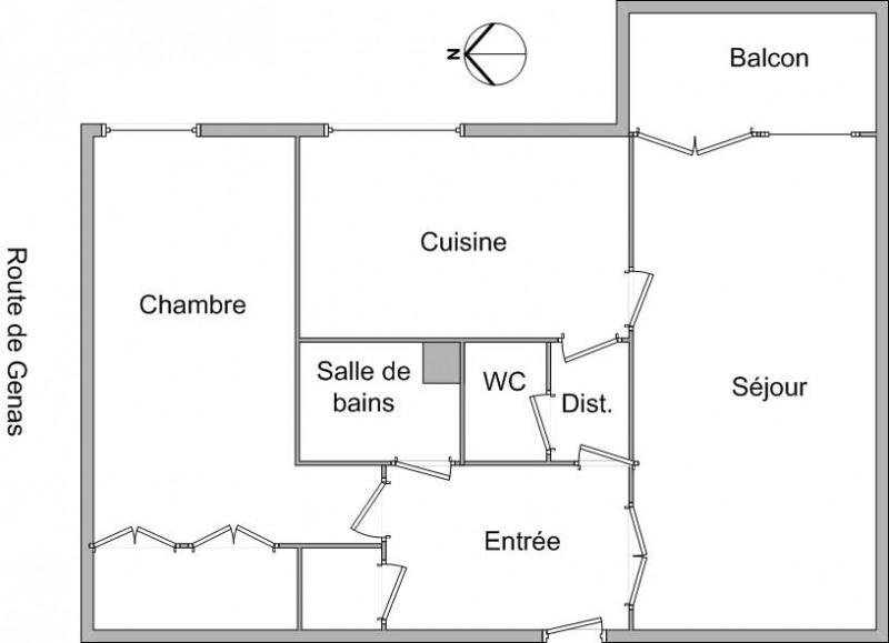 Location appartement Bron 664€ CC - Photo 7