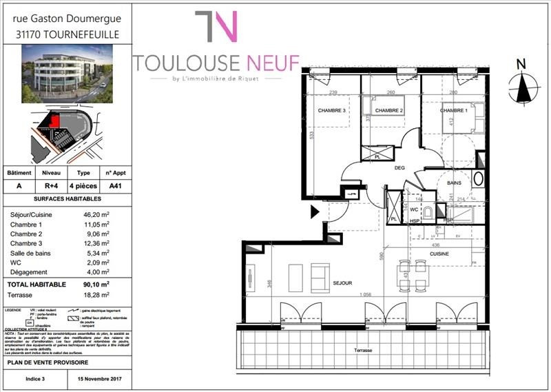 Vente appartement Tournefeuille 370 000€ - Photo 5