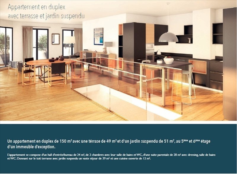 Deluxe sale apartment Levallois perret 2 200 000€ - Picture 3