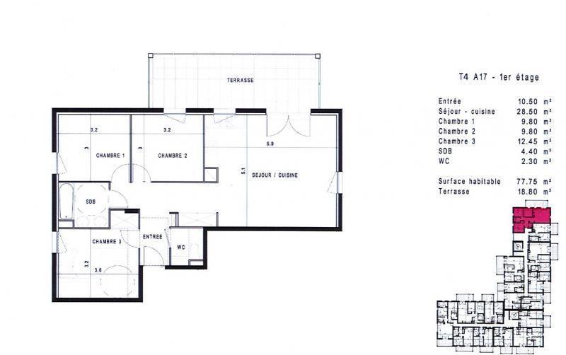 Vente appartement Montpellier 298000€ - Photo 2