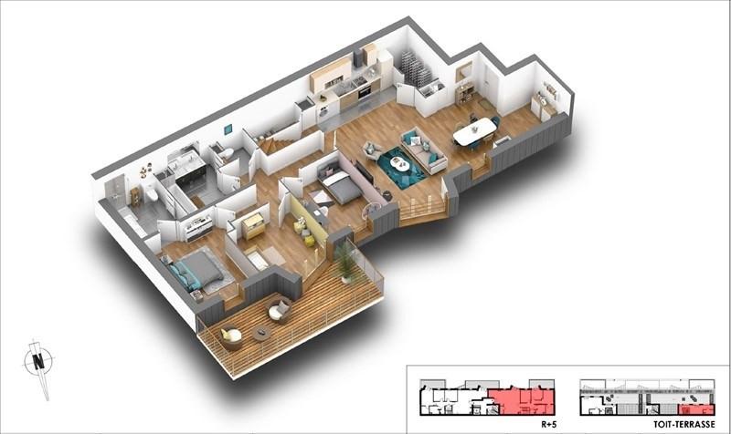 Deluxe sale apartment Courbevoie 1150000€ - Picture 2