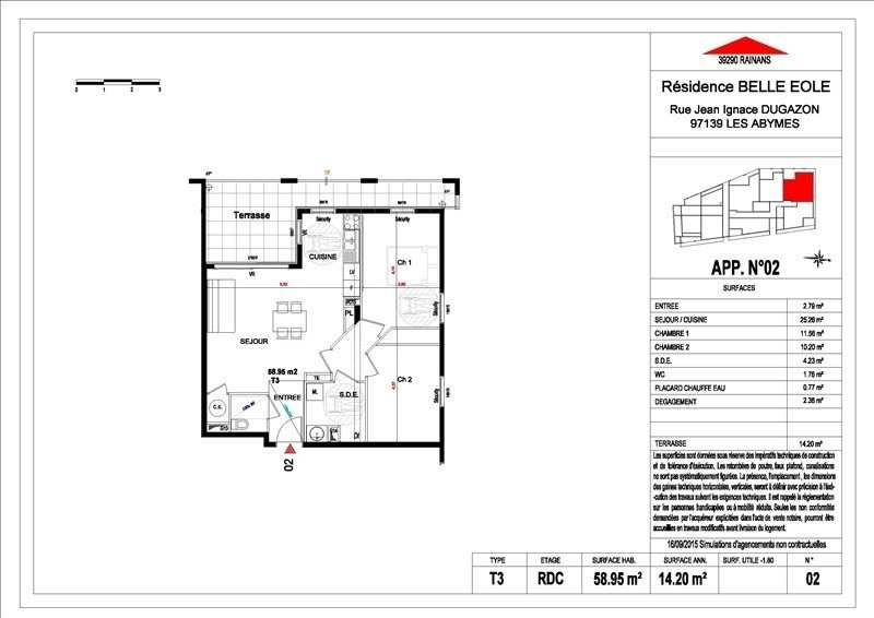 Sale apartment Les abymes 156500€ - Picture 19