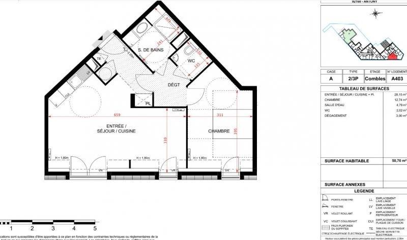Vente appartement Antony 278000€ - Photo 3