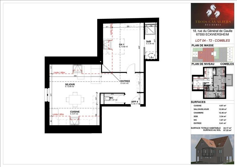 Vendita appartamento Eckwersheim 133000€ - Fotografia 2