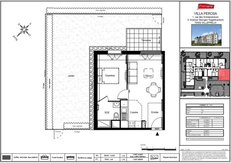 Sale apartment Villepreux 167000€ - Picture 2