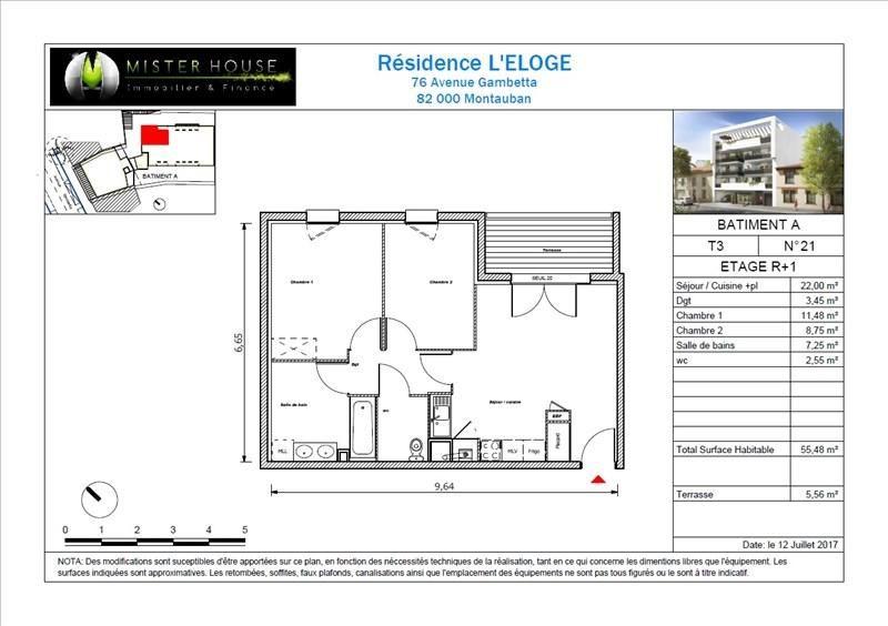 Vendita appartamento Montauban 144500€ - Fotografia 7