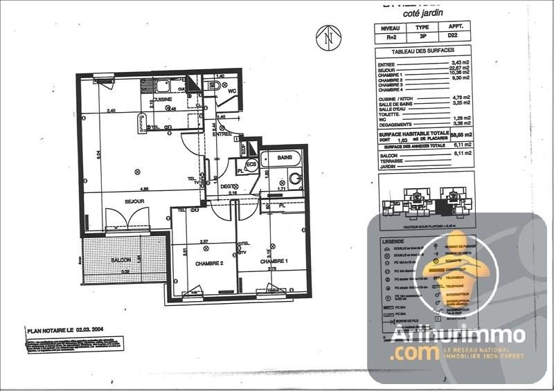 Rental apartment Chelles 910€ CC - Picture 2