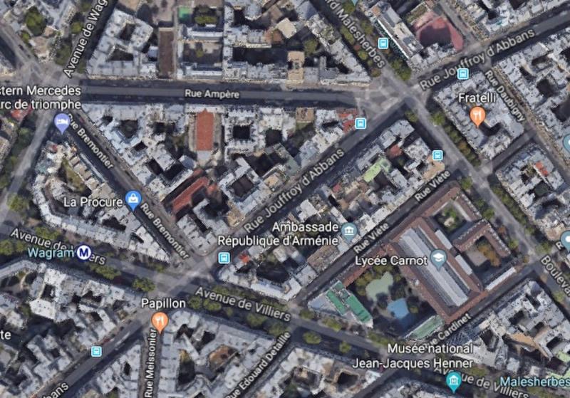 Paris 17ème- WAGRAM- 4/5 Pièces étg. Élevé balcon + terrasse Sud