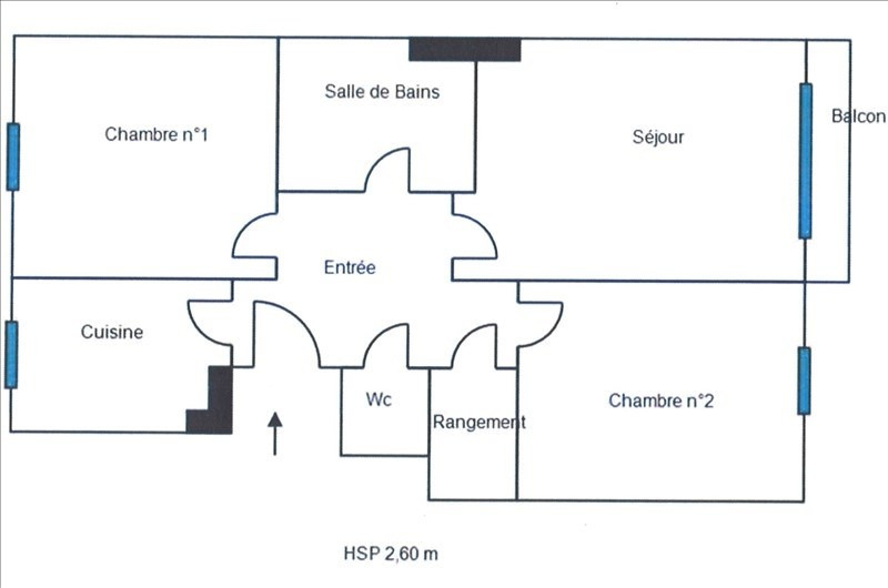 Sale apartment Colombes 316000€ - Picture 2