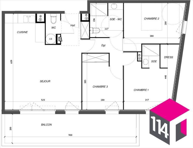 Sale apartment Baillargues 288300€ - Picture 4