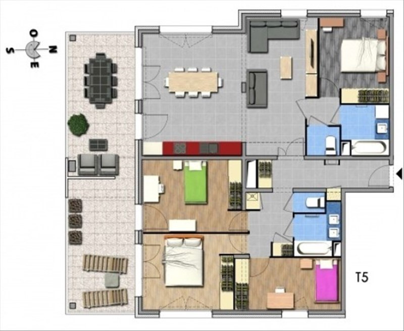 Venta  apartamento Aix les bains 479000€ - Fotografía 3