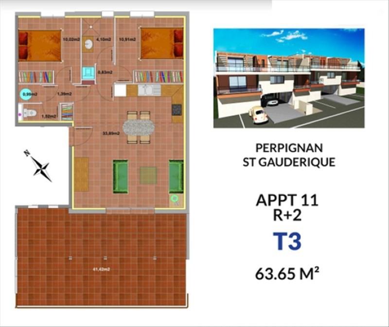 Vente appartement Perpignan 207900€ - Photo 2