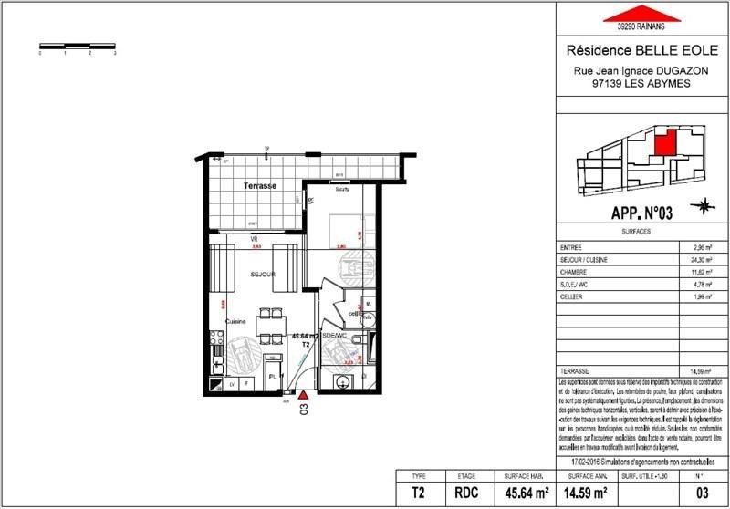 Vente appartement Les abymes 145900€ - Photo 3