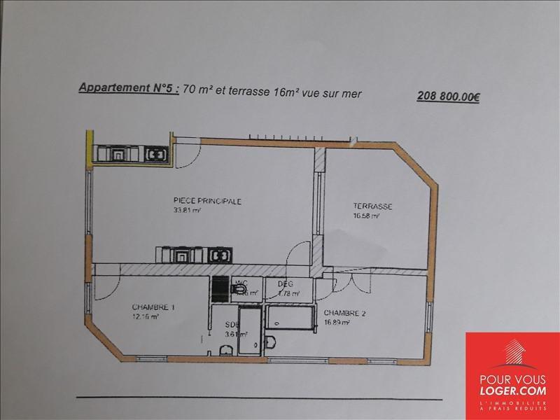Sale apartment Berck 208800€ - Picture 3