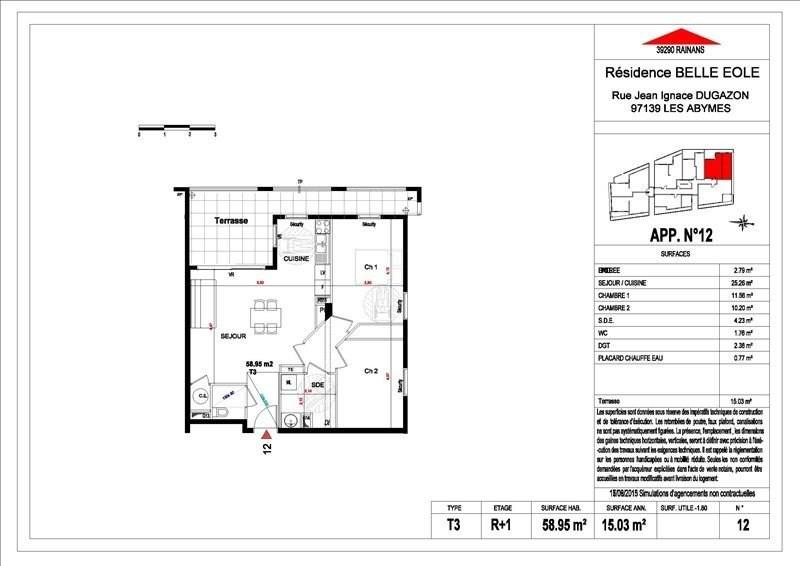 Sale apartment Les abymes 156500€ - Picture 8