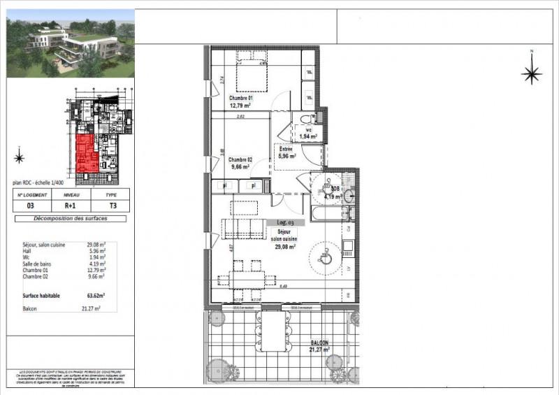 Vente appartement L isle d abeau 183750€ - Photo 3