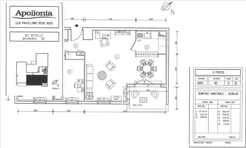 Location appartement Les pavillons sous bois 975€ CC - Photo 7