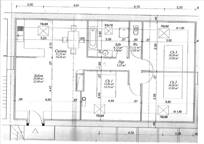 Sale apartment Blois 82000€ - Picture 3