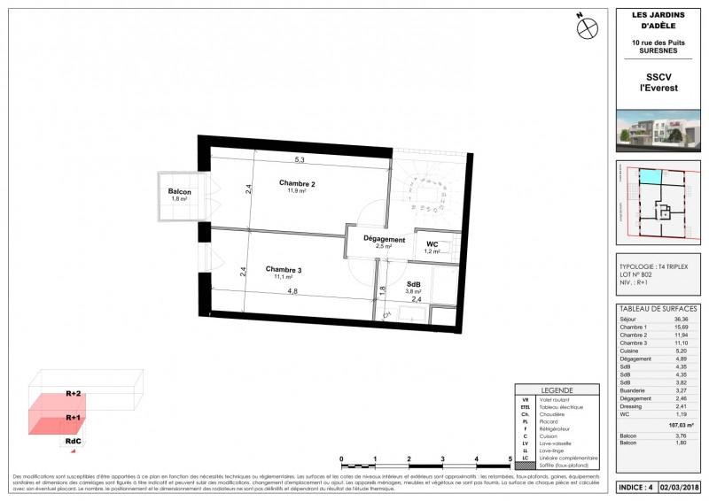 Sale apartment Suresnes 867000€ - Picture 3