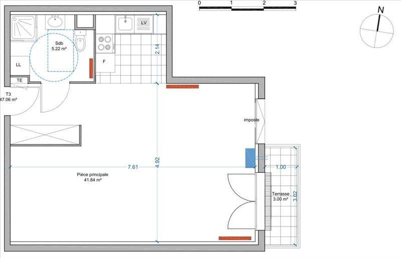 Vente appartement Thorigny sur marne 195000€ - Photo 1