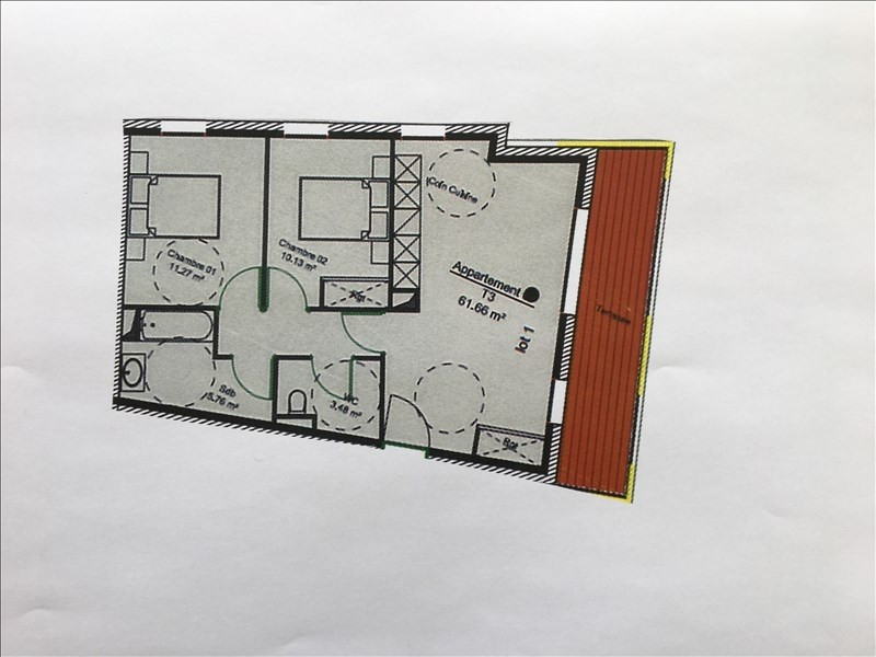 Venta  apartamento Charbonnieres les bains 332964€ - Fotografía 2