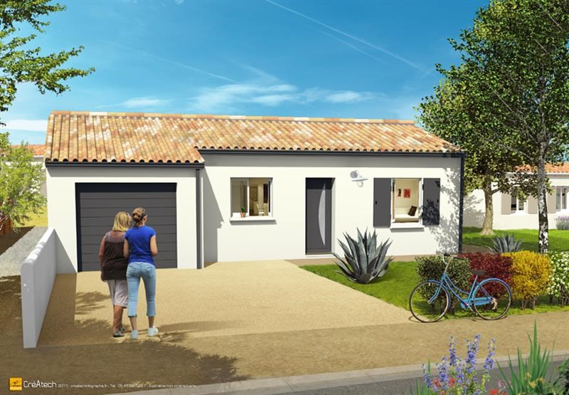 Maison  5 pièces + Terrain 374 m² Angliers (17540) par LES ARTISANS CONSTR CHARENTAIS