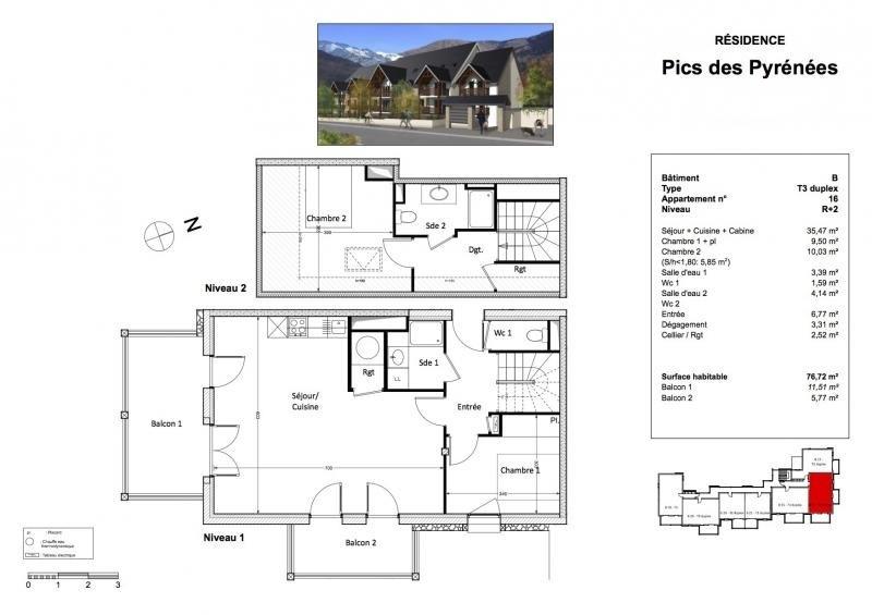 Verkoop van prestige  appartement Bagneres de luchon 268520€ - Foto 3