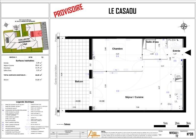 Vente appartement St andre de seignanx 132500€ - Photo 3