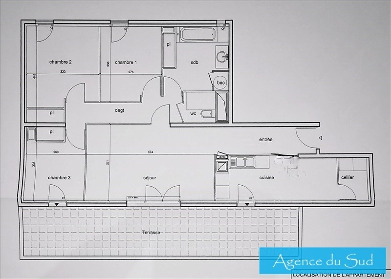 Vente appartement Roquevaire 279000€ - Photo 9