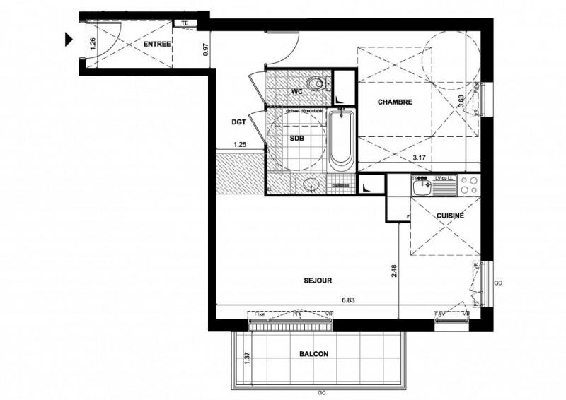 Vente appartement Bois-d'arcy 228000€ - Photo 1